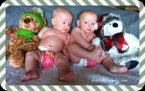 boys first christmas pic
